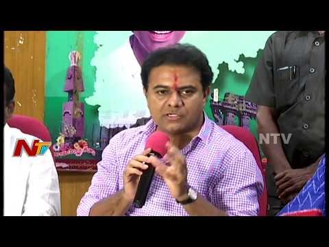 KTR Press Meet : Bathukamma Sarees Distribution In Telangana    NTV
