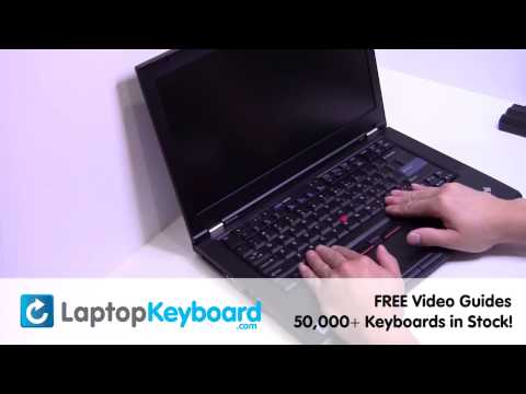 IBM Lenovo T420 T510 Keyboard Installation Replacement Guide - Laptop Remove Replace Install