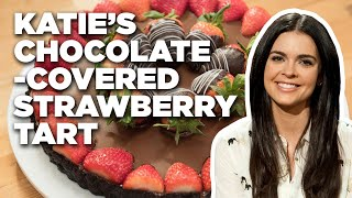 How to Make Katie Lee's Chocolate-Covered Strawberry Tart | Food Network