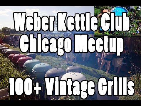 Weber Kettle Club - Chicago Meetup 100+ Vintage Kettles