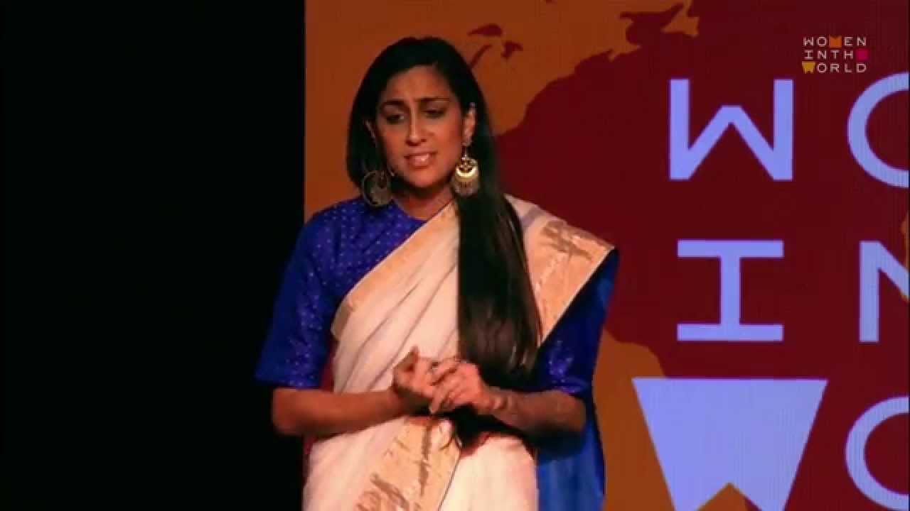 Karuna Parikh performs a poem during Women in the World India