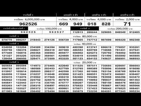 ใบตรวจหวย 16/5/62 เรียงเบอร์งวดล่าสุด 16 พฤษภาคม 2562