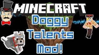 Minecraft Mods - DOGGY TALENTS Mod! Name, Train, Feed & Ride your Wolf Doggy Pet! thumbnail