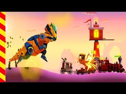 Мультик про дракона для детишек. Дракончик дышит огнем. Доисторические динозавры нападают на людей