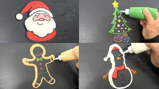 Christmas Pancake Art - Santa, Christmas Tree, Gingerbread Man, Snowman