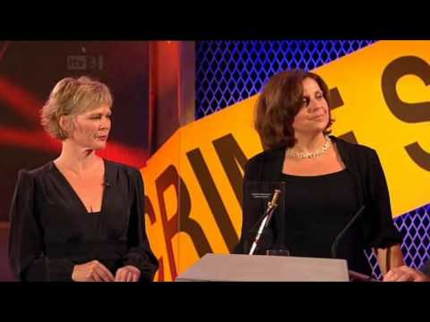 Clare Holman and Rebecca Front at the Crime Thriller Awards 2012