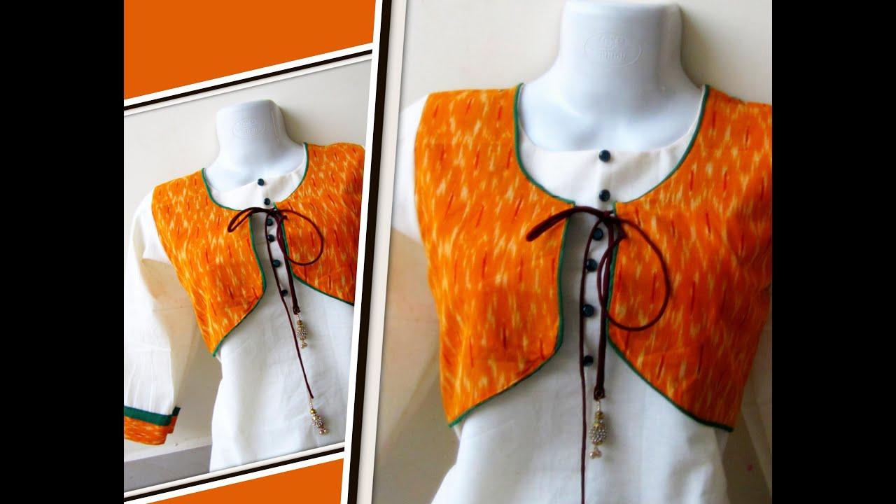 Image result for kurti jacket tutorial youtube