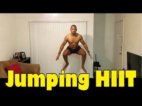 HIIT JUMPING CARDIO WORKOUT FOR ACTIVATING THE AFTER BURN EFFECT