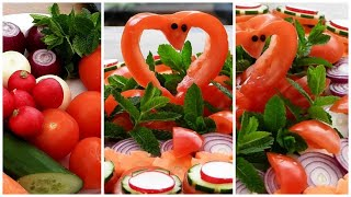 Super Salad Decoration Ideas - Vegetable Plate Decoration