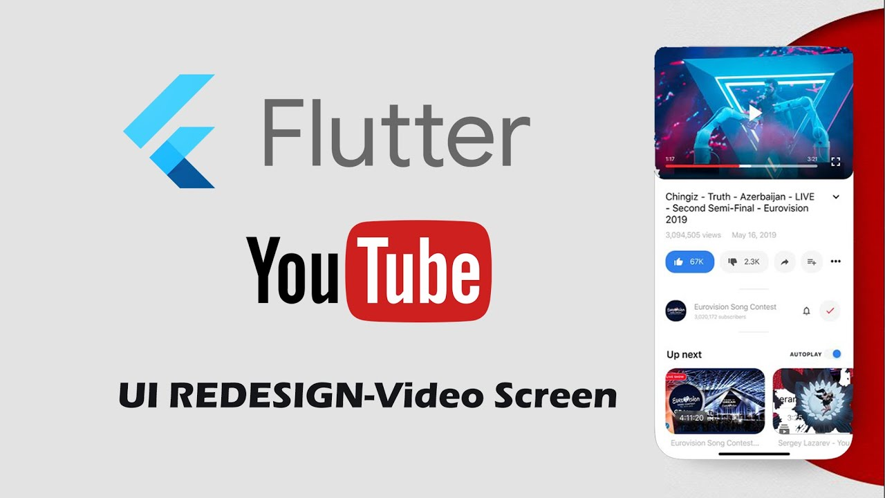 Flutter UI Redesign YouTube Speed Code - Video Screen