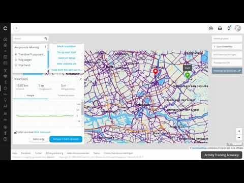 Routes plannen met Garmin Connect