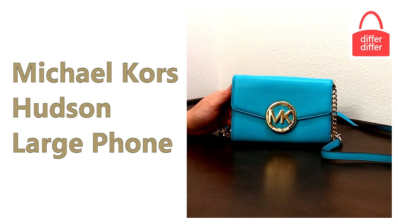 7a35c6ca66b7 Michael Kors Hudson Large Phone Leather Crossbody 35S5GHC9L - YouTube