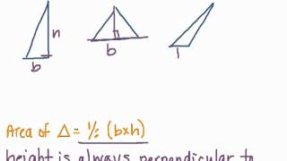 How To Find Base and Height on Triangles