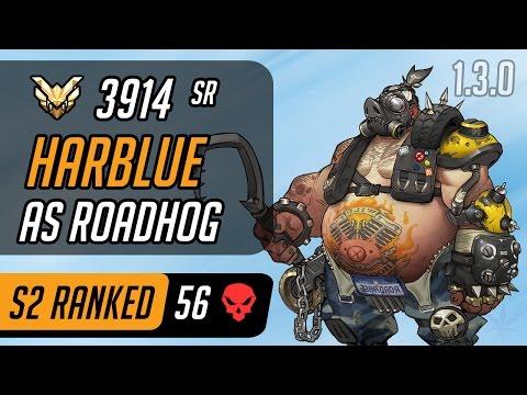 Harblue as Roadhog in Dorado [Master – 56 eliminations – CompLexity - Season 2 - 1.3.0]