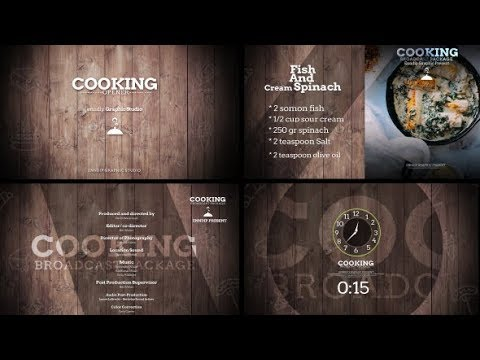 Cooking Show Broadcast - After Effects template - 동영상