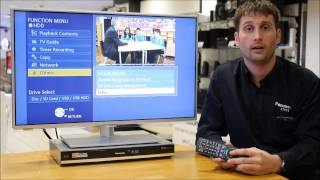 How to retune a Panasonic DVD/HDD Freeview Recorder