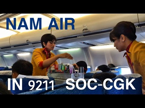 NAM AIR | IN9211 FLIGHT REVIEW SOLO TO JAKARTA