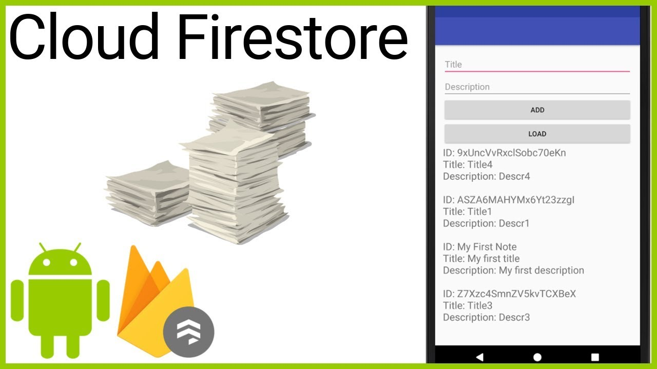 Firestore Tutorial Part 8 - ADD AND RETRIEVE MULTIPLE DOCUMENTS - Android  Studio Tutorial