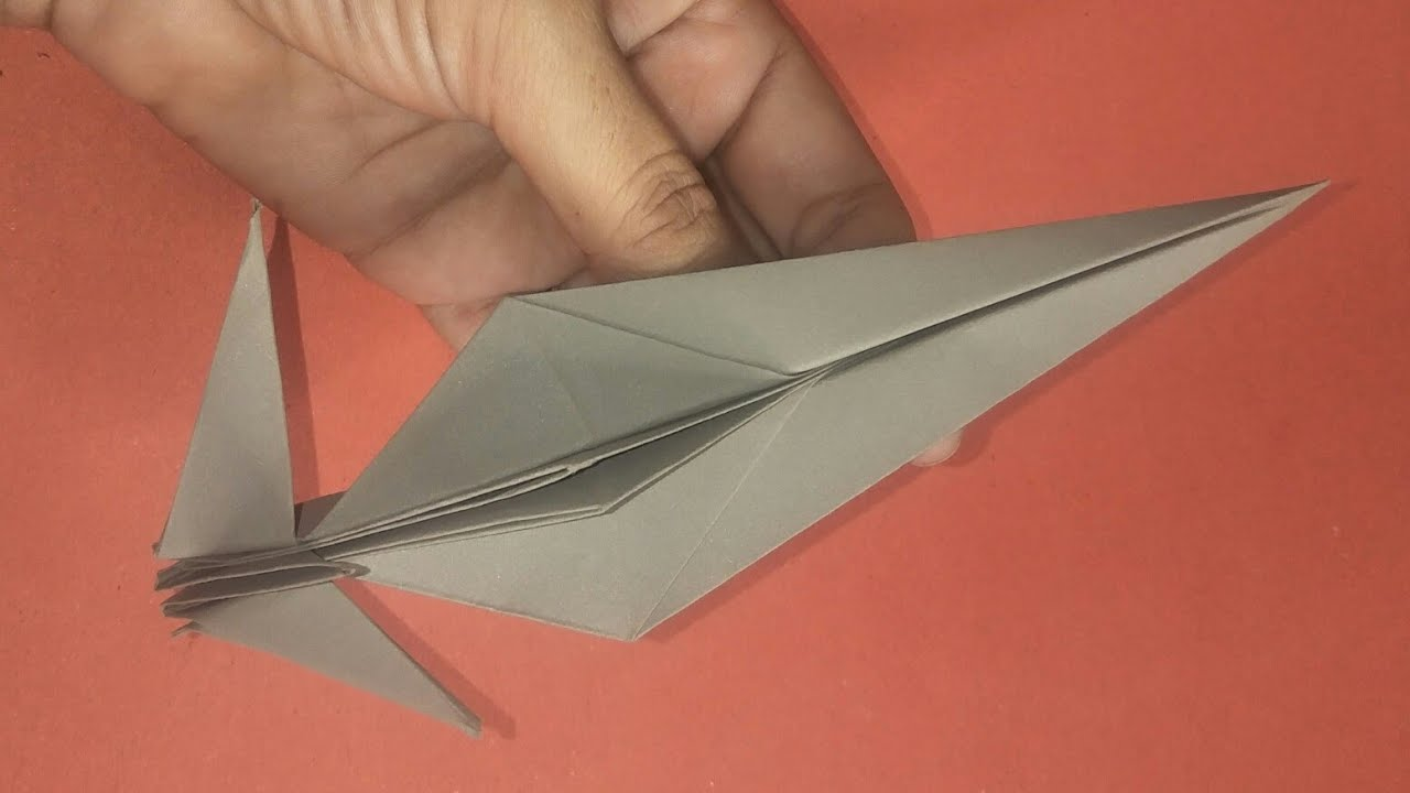 Very Fast Paper plane That Fly Far - How To Make Insane Paper Plane | Easy Paper Folding Airplane
