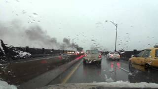 Car Fire on Pulaski Skyway