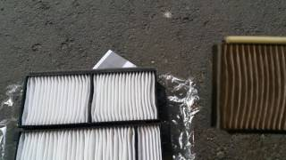hd 2004 2009 mazda 3 cabin air filter change diy no glove compartment removal method
