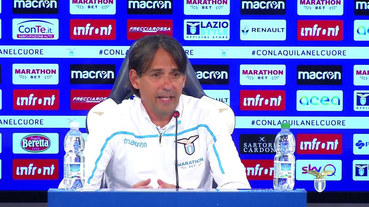 La conferenza stampa di mister Inzaghi alla vigilia di Milan-Lazio