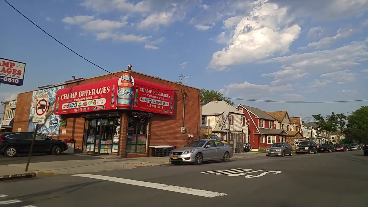 Driving from New Dorp to Midland Beach in Staten island,New York ...