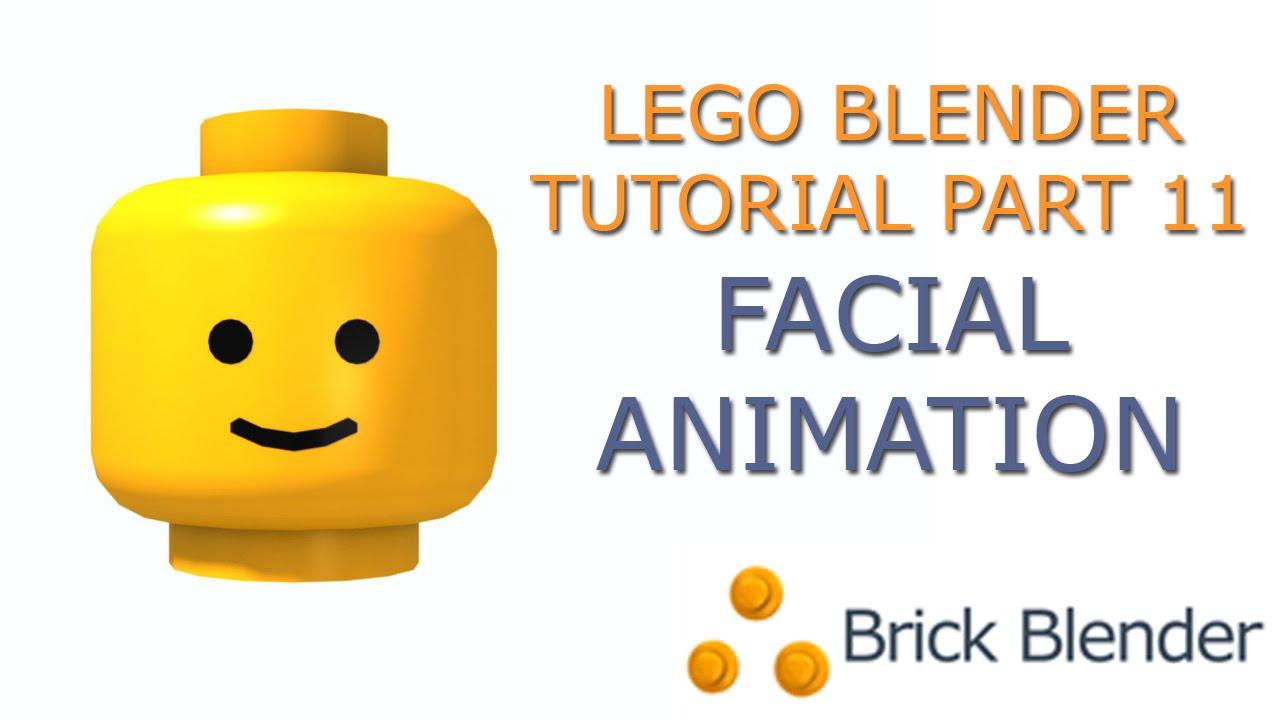 Lego Blender Tutorial  Part 11 Facial Animation Part 1