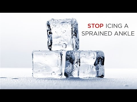 Do Not Ice a Sprained Ankle: Here's why...