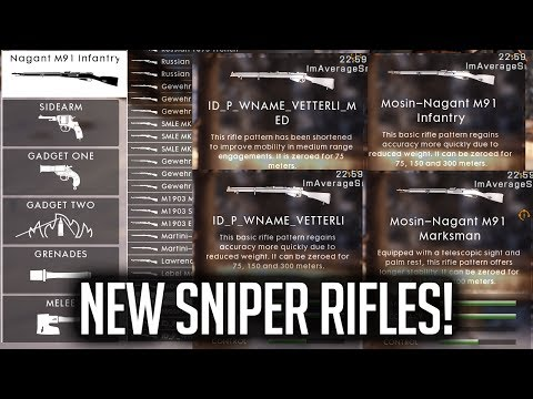 🎮 NEW BF1 SNIPER RIFLES & MAP LIVE!!!
