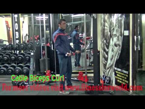 Cable biceps curl  by Expert  Mayur Deshpande (ACSM & ACE certified) Mumbai