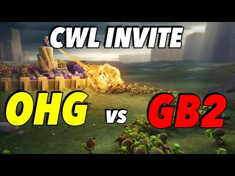 CWL Live! OneHive Genesis vs GB2 | Clash of Clans