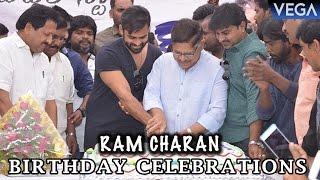 Sai Dharam Tej & Allu Aravind Celebrates Ram Charan Birthday