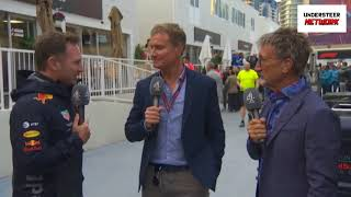 F1 2018 Azerbaijan GP  Christian Horner AWKWARD Interview Post Race   Red Bull Team Boss Anaylsis