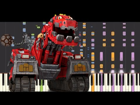 IMPOSSIBLE REMIX - Dinotrux Theme Song - Piano Cover