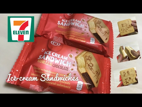Wall's Ice Cream Sandwich with Printed Cartoons found in 7ELEVEN Store Malaysia