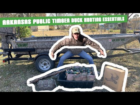 Arkansas Public Timber Duck Hunting Essentials *EVERYTHING YOU WILL NEED*