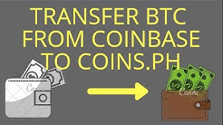 How to transfer bitcoin from coinbase to coins.ph (external wallet)