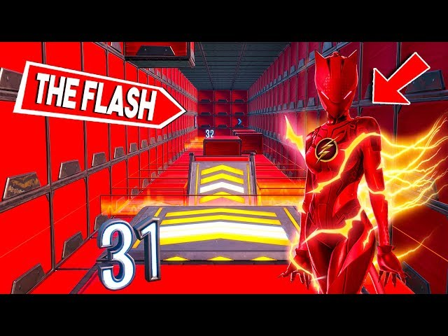 100 LEVEL FLASH DEATHRUN! - Fortnite Creative (Nederlands)