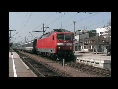 Bahnverkehr in Singen(Htw) 24.04.10