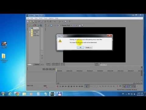 How to open FLV files in Sony Vegas (1 click)