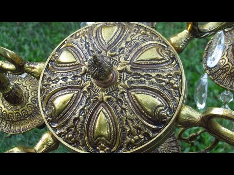 How to DISASSEMBLE an ANTIQUE BRASS CHANDELIER - Part 1!