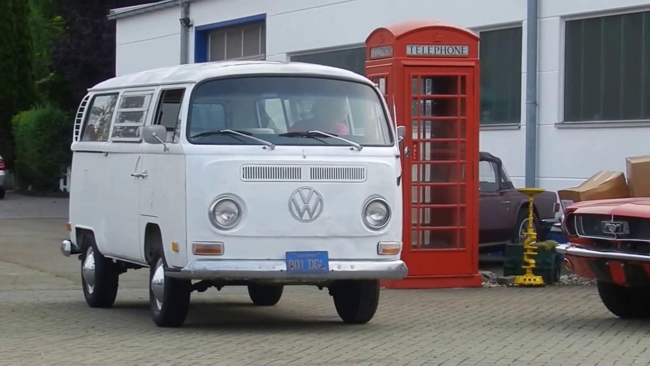 d5806613f6 1969 VW Bus T2a Westfalia Tin Top Camper --- fahrend - YouTube
