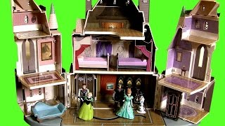 Frozen Castle Of Arendelle Playset With Elsa Anna Kristoff Olaf - Disney Magiclip Mix-and-match