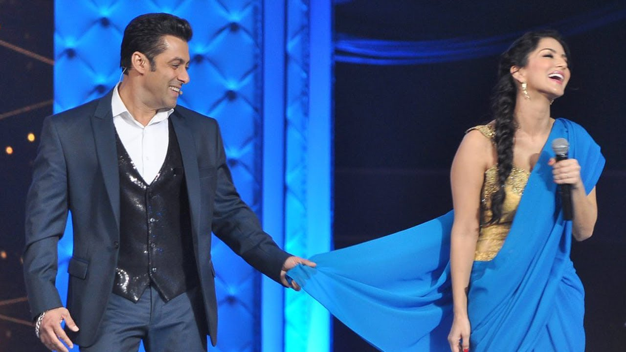 Salman Khan Teaches Sunny Leone How To Wear Saree - Youtube-1414