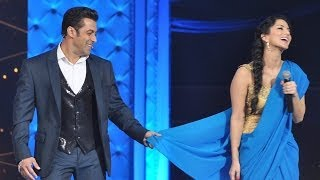 Salman Khan Teaches Sunny Leone How To Wear Saree