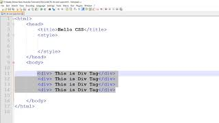 div and span in CSS (Hindi)