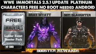 WWE IMMORTTALS 2.5.1 How To Get Unlimited Platinum|charaters For Free For Non-rooted Android