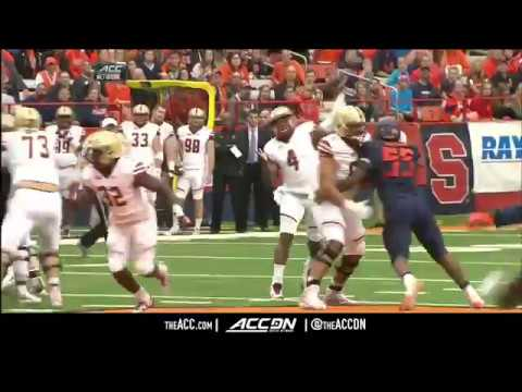 Boston College vs  Syracuse College Football Condensed Game 2017