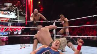 John Cena, Big Show &  Zack Ryder vs Mark Henry & Jack Swagger\Kane Attacks Cena & Ryder
